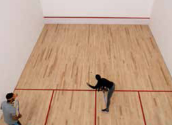 Pionier Residency | Wooden Squash Court